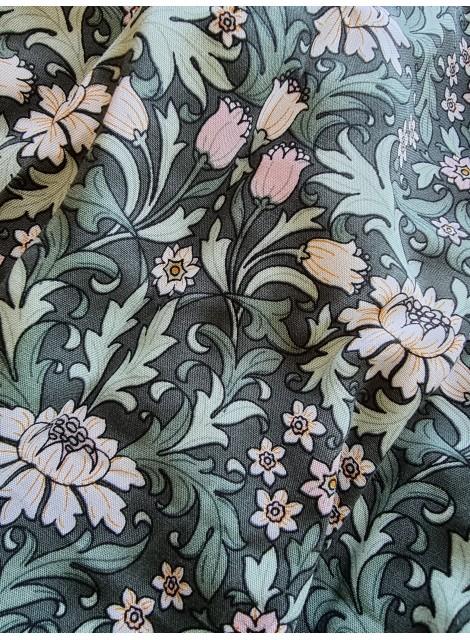 Klänning Anemon: Grön med små blommor