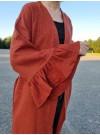 Lång kimono i tegel och guld