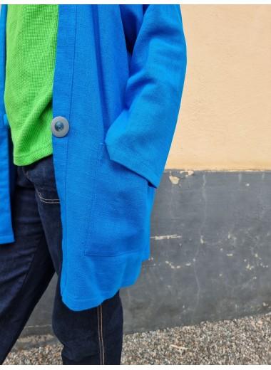 Blå linnejacka