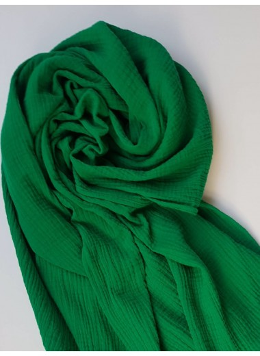 Stor sjal i klargrön muslin