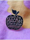 Pin Lärare, svart