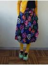 Svart kjol med bred stretchmidja