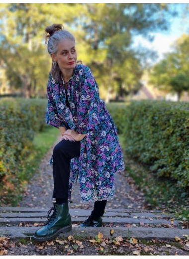 Blå/lila Kimono