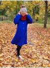 Kornblå kappa i ull