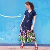 Fortsätt kolla min rea! Detta snygga mönster finns som byxdress, långklänning och långkjol.